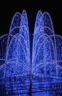 blue-fountain-lights