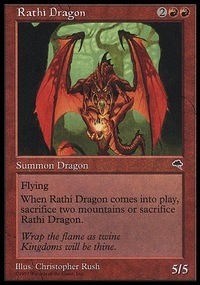 Rathi Dragon, Magic the Gathering